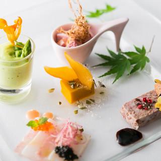 伝統的イタリア郷土と日本の四季を融合させたお料理