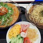 福泰厨房 - 料理写真:冷やし中華と冷やしタンタン麺