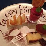 Zappa - デザート盛り お誕生日お祝いしてもらいました。