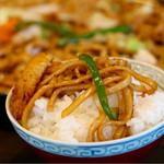 あんこ椿 - スキヤキ風の味付けがご飯によく合います