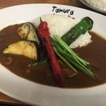 炭火焼肉たむらのお肉が入ったカレー屋さん - 京野菜カレー