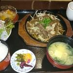 天まで上がれ - 豊後牛カルビ鉄板焼き御膳(1,400円)