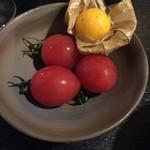 54362704 - トマトとホウズキ
