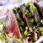 肉×魚×日本酒 照 - 『鰹のたたき』