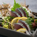 肉×魚×日本酒 照 - 『鯖きずし刺身』