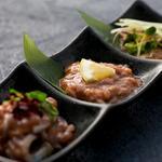 肉×魚×日本酒 照 - 『酒盗盛り合わせ』