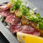 肉×魚×日本酒 照 - 『照の牛たたき』