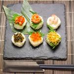 肉×魚×日本酒 照 - 『彩り一口手鞠寿司(6貫)』