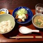 赤坂うまや - 冷汁とチキン南蛮定食 @1,200円