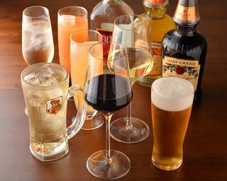 Alvino - ビール、サワー、カクテル、ハイボール、ワインと組み合わせて130種類以上の飲み放題メニュー有!