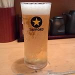 らーめん 匠力 - 黒ラベルの生ビール小250円(税込)