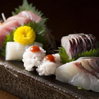目利きで厳選した鮮魚の数々