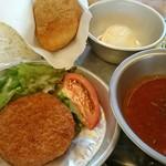 和食 古宮 - ソフト麺給食にはきな粉揚げパンがついてくる!