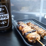 炭火焼鳥わいわい - やきとり&ホッピーは最高の組み合わせ(中のキンミヤ焼酎の量も多いです!)