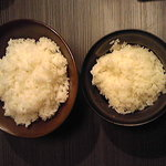 あがり屋 - 大盛りライス(315円) 普通盛りライス(210円)