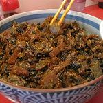 まめ狸 - 辛子高菜もあります。手作りなのかなぁ。なかなか美味しかったです♪