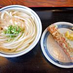 上野製麺所 - かけそのままとちくわ天