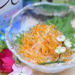 肉×魚×日本酒 照 - 『ぷりぷり白魚のとびっこ和え』