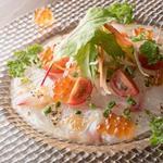 肉×魚×日本酒 照 - 『日替わり鮮魚のカルパッチョ』