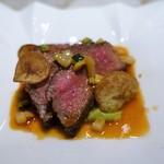 フレンチごはん 西麻布GINA - 長萩和牛ランプ肉のロースト  ソース ナヴァラン