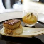 フレンチごはん 西麻布GINA - 富山産 白海老と雲丹のタルタル、フォアグラ照焼き 筍のおにぎり
