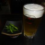 大定 - 生ビール(中)(600円)