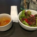 54387391 - スープ、サラダ