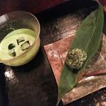 茶の葉 - 「お抹茶 ICE」+「新茶餅」