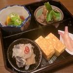 さらい - おつまみ盛合せ(南蛮漬け、出汁巻き玉子、生姜甘酢漬け、野菜煮物、魚の甘露煮)