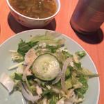 54390642 - サラダ、スープ