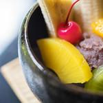 縁側カフェ - 餡蜜(あんみつ)、菠蘿(ぱいんあぷる)