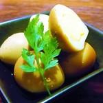 Bar Agit - うずら玉子の燻製 ¥350