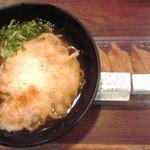 54395976 - 天ぷらえきそばいなり寿司セット 500円(税込)(2016年7月30日撮影)