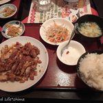 王ちゃんの中華 - 油淋鶏定食(780円税抜)16.8月
