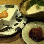 板蕎麦 香り家 - 041017香り屋ゆば&ごま豆腐