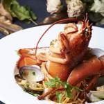 青葉台食堂george - オマール海老と魚貝のパスタ