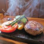 entotsu Bistro&Cafe - 「大噴火!溶岩ハンバーグ」1,700円