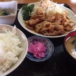 富久どり食堂 - 料理写真:豚バラ焼肉定食1.100円