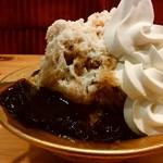 コメダ珈琲店 - 「コーヒーミルク&ソフト氷(手作りコーヒーゼリー添え)」アップ