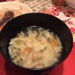 王ちゃんの中華 - 油淋鶏定食・スープ(780円税抜)16.8月