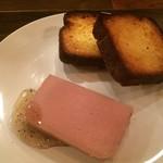 54408334 - 白レバーのパテ。非常に濃厚な味わいに仕上げられています。かなり焼き色をつけたブリオッシュとともにいただきます。