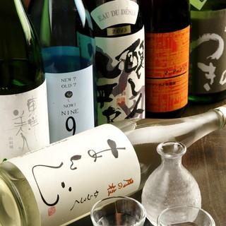 全国の旨酒を常時15種類以上ご用意しております!!