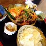 oshokujidokoroshouya - 那須豚の醤油漬け黒胡椒焼き膳