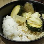 u-ma kagurazaka - 茄子とズッキーニのお茶碗タイカレー