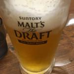 武骨家 - 生ビールはモルツ