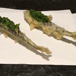 手打ち蕎麦 成冨 - 鮎の天ぷら