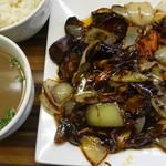 麺や 栄龍 - 茄子味噌炒め定食 税込800円
