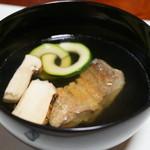 はせ川 - 松茸と甘鯛の吸い物