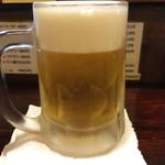 居酒屋 おんざびーと - 生ビール 2016.8