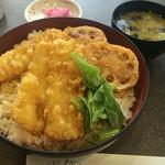 オークルジョーヌ - イカ天丼 ¥500 + 大盛り ¥0